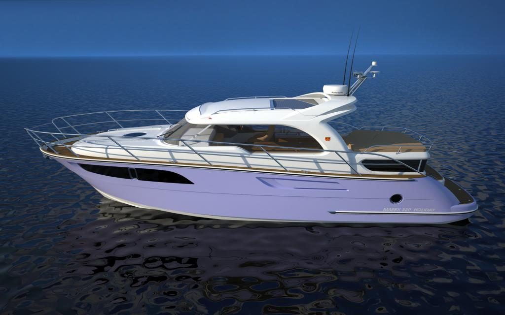 Exterior Marex 320 Aft Cabin Cruiser New Boat