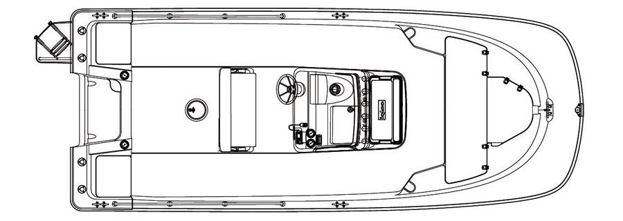Layout Boston Whaler 210 Montauk