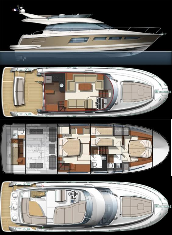 Layout Prestige Flybridge 500