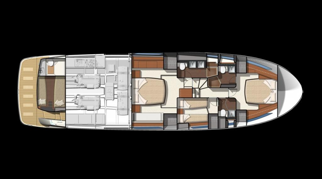 Layout Prestige Yacht Division 620 S