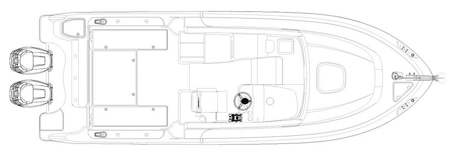 Layout Boston Whaler 285 Conquest Pilothouse