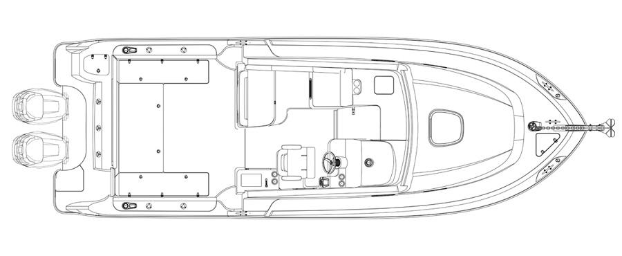 Layout Boston Whaler 315 Conquest