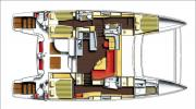 Interiors & Cabin Layout Catana 50 (Layout)