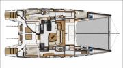 Interiors & cabin layout Catana 55 (Layout)