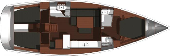 Layout Dufour 450 Grand Large