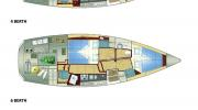 Interiors & Cabin Layout Sirius 35 DS (Layout)