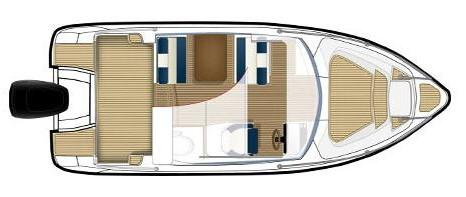 Layout Bella Cabin Cruiser 700 Patrol
