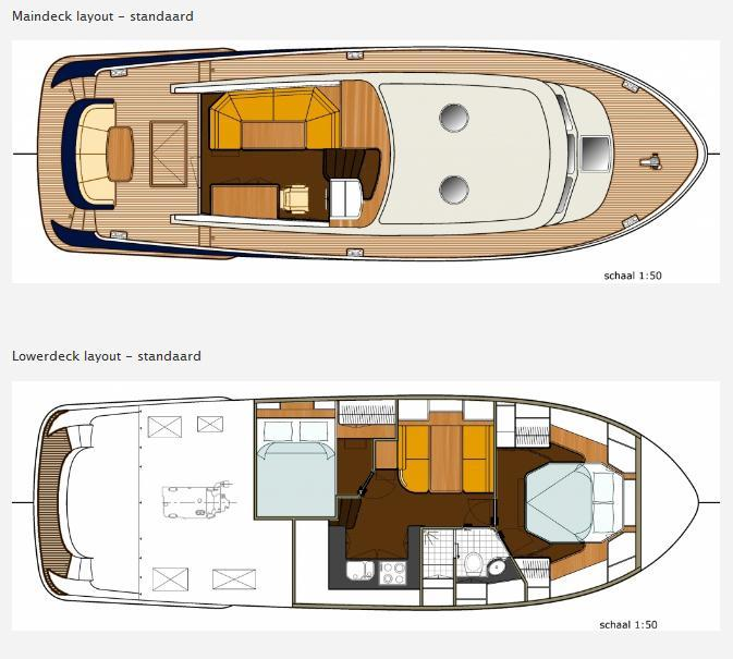 Layout Boarncruiser 46 Retro Line Decksaloon