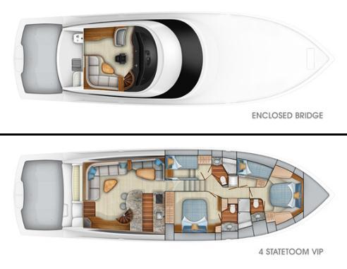 Layout Viking Yachts Enclosed Bridge 62