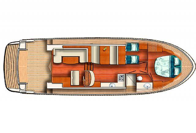 Layout Linssen Cruiser 430 SedanWheelhouse