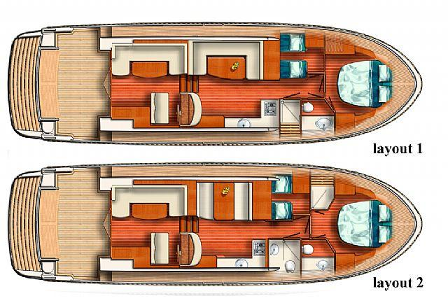 Layout Linssen Cruiser 450 SedanWheelhouse