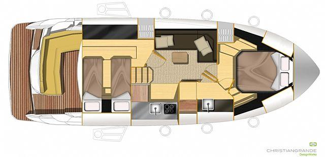 Layout Sessa Cruiser C 38