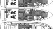 Interiors & cabin layout Sunseeker Predator 72 (Layout)