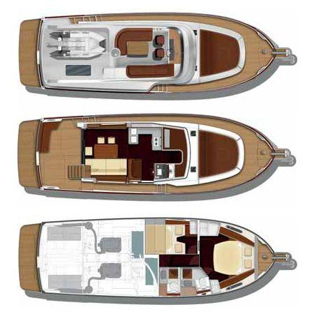 Layout Bnteau Swift Trawler 44