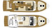 Interiors & cabin layout Cranchi Eco Trawler 53 (Layout)