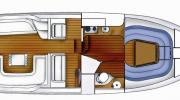 Interiors & cabin layout Boarncruiser 300 Sun Cruiser Marex (Layout)