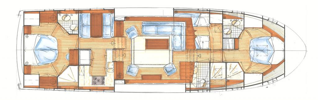 Layout Linssen 58.9 Variotop & Wheelhouse