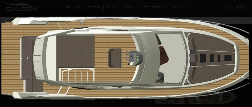 mise en page Galeon 300 Fly