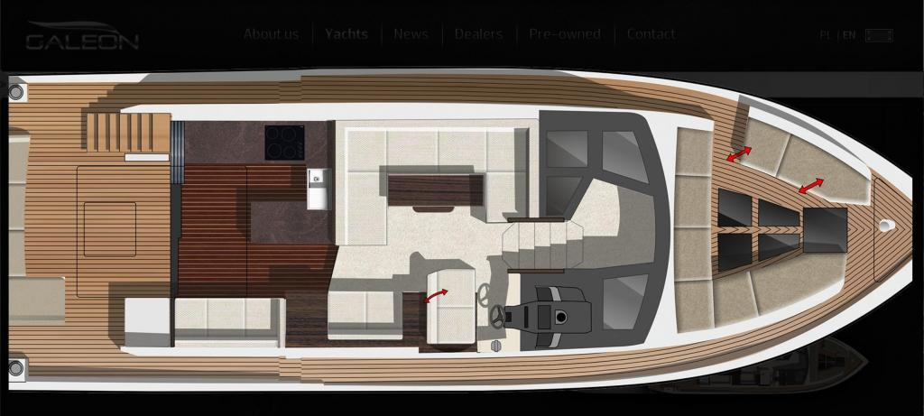 Layout Galeon 510 Skydeck