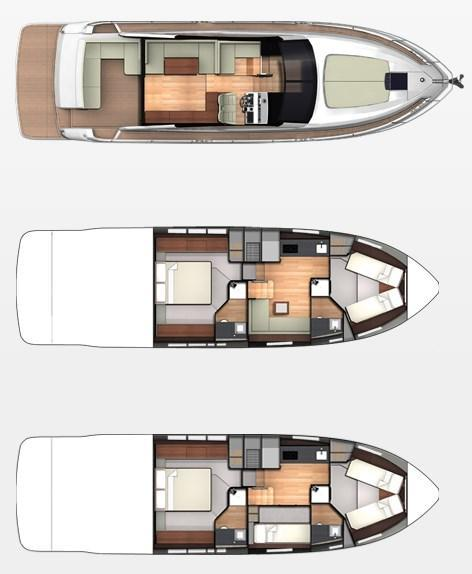 Layout Fairline Targa 48 GT