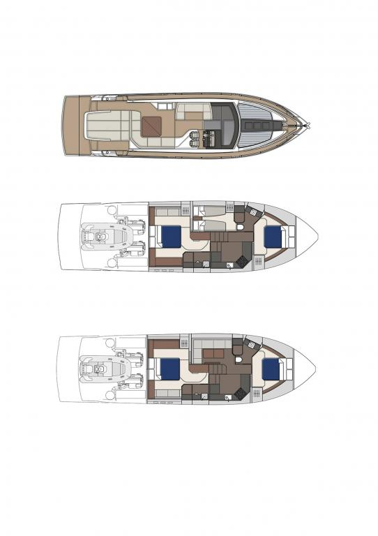 Layout Fairline Targa 53 Open