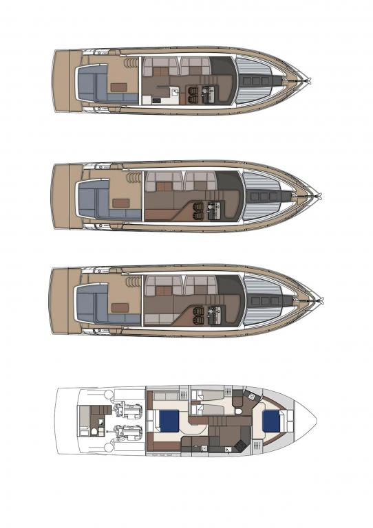 Layout Fairline Squadron 53