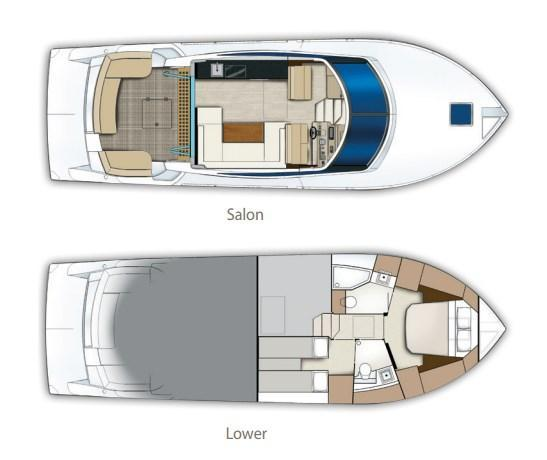 Layout Carver C43 Coupe