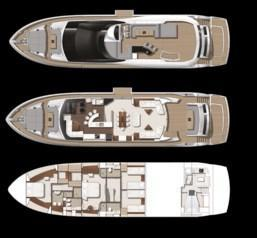 Layout Sunseeker Yacht 86
