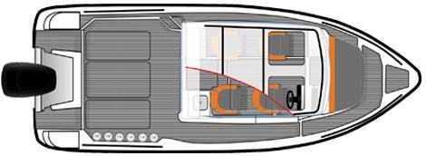 Layout Bella Cabin Cruiser 700 Raid
