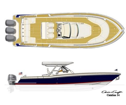 mise en page Chris Craft Catalina 34