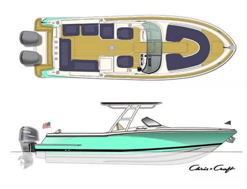 Layout Chris Craft Calypso 26
