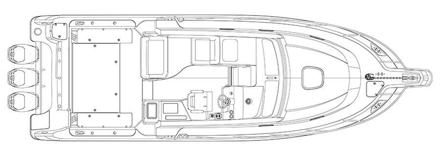 Layout Boston Whaler 345 Conquest Pilothouse