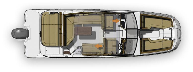 Layout Sea Ray Sport Boat 270 SDX OB
