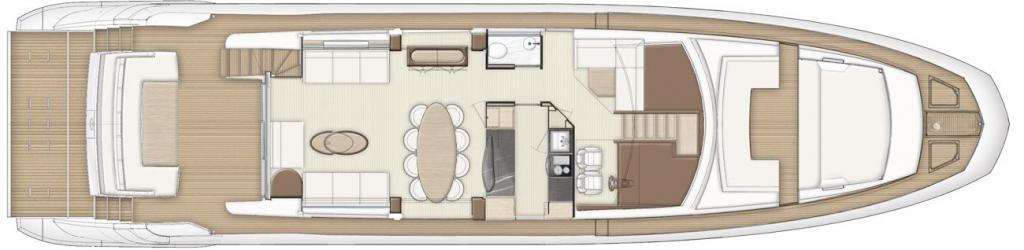 Layout Azimut Flybridge 80