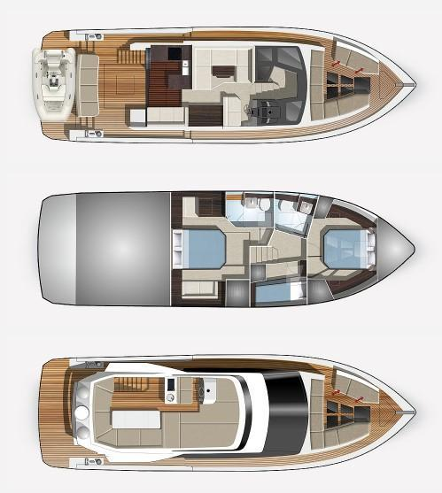 mise en page Galeon 460 FLY
