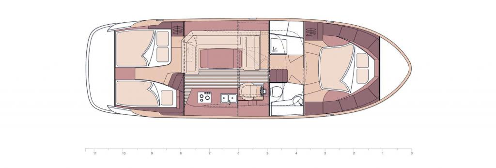 Layout Marex 373 Aft Cabin Cruiser