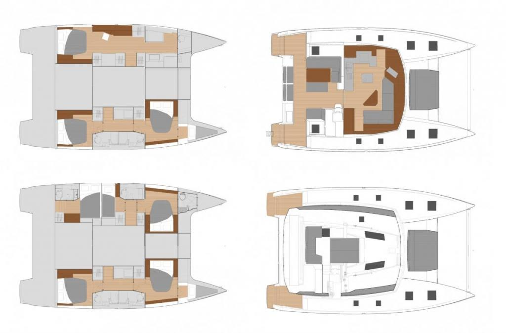 Layout Fountaine Pajot Saona 47