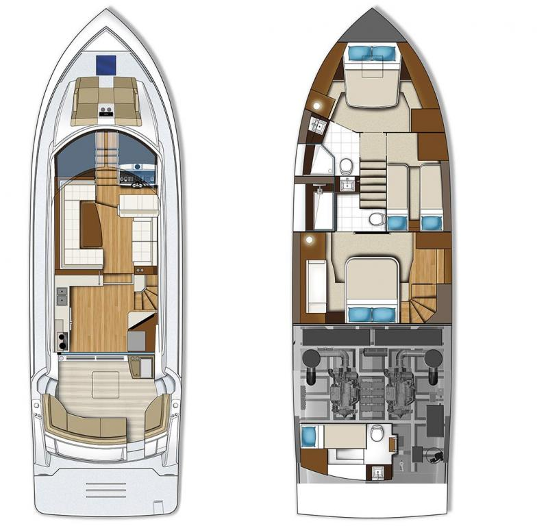 Layout Carver C52 Coupe