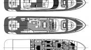 Interiors & cabin layout AB Yachts AB 100 (Layout)