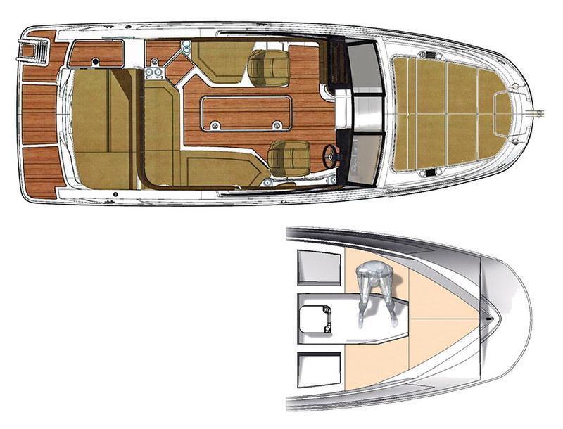 Layout Sea Ray Sunsport 230