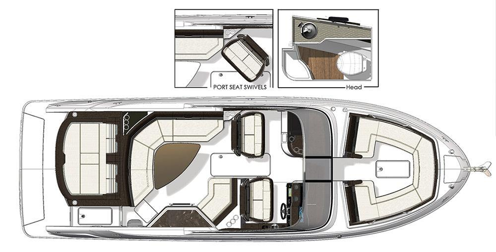 Layout Sea Ray Sport Boat 310 SLX