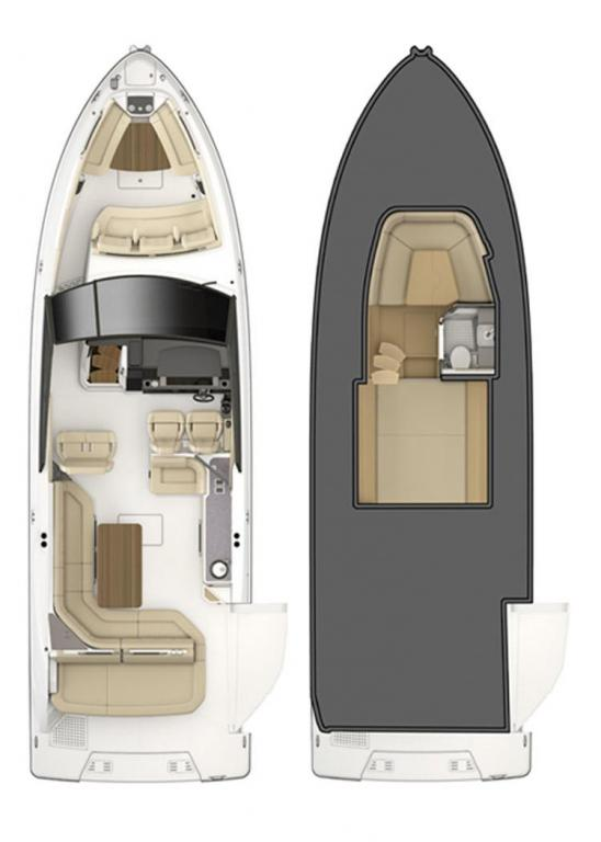 Layout Sea Ray Sport Boat 400 SLX