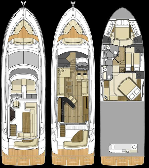 Layout Sea Ray L550 Fly