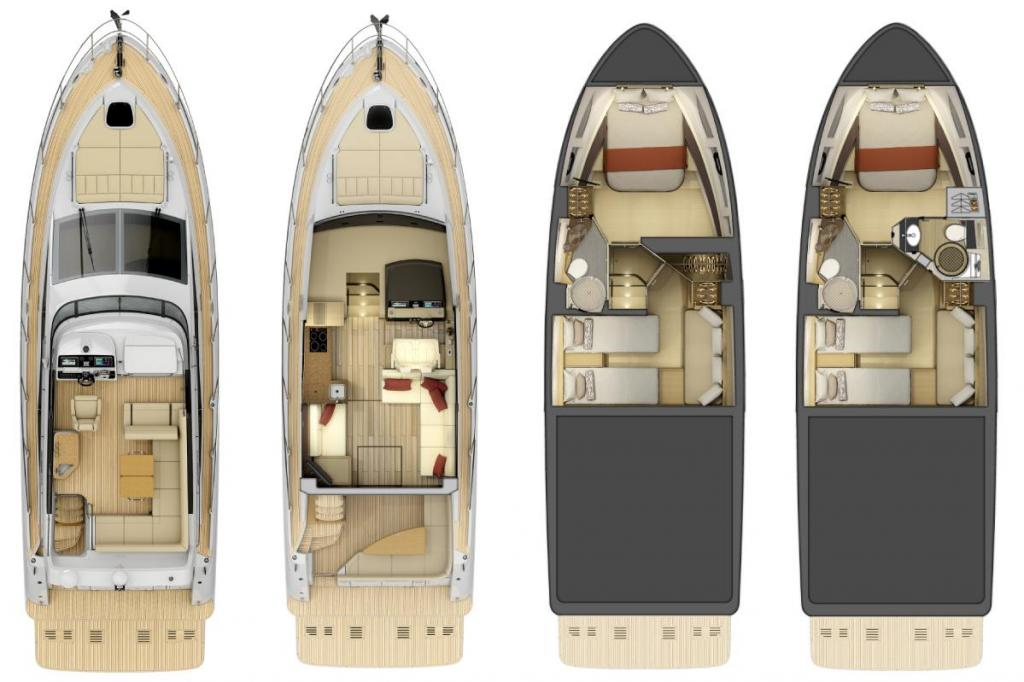 Layout Sea Ray Sport Yacht 400 Fly