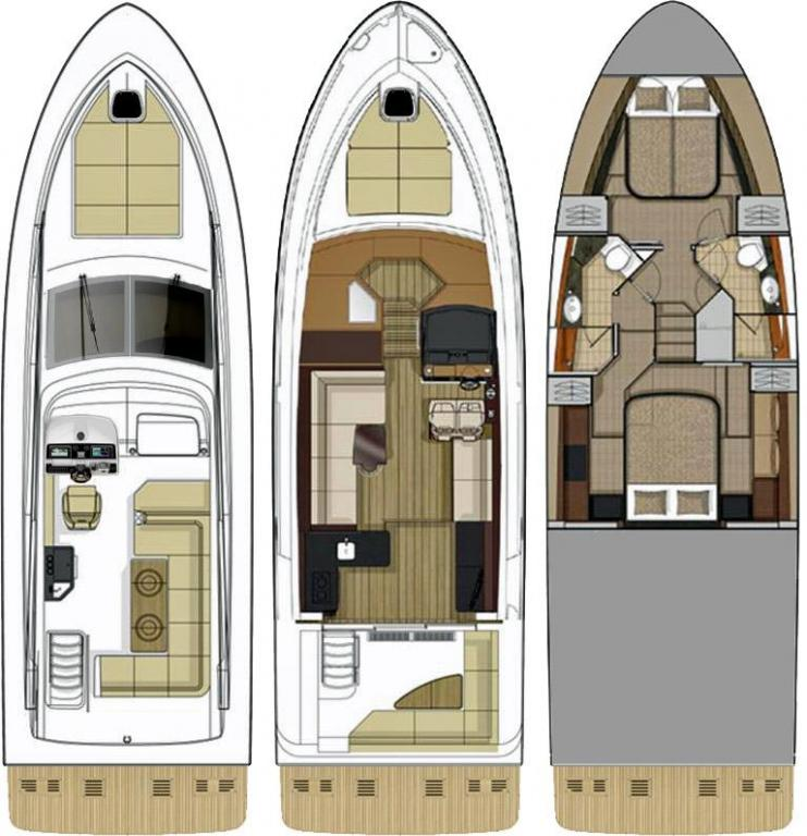 Layout Sea Ray Sport Yacht 460 Fly