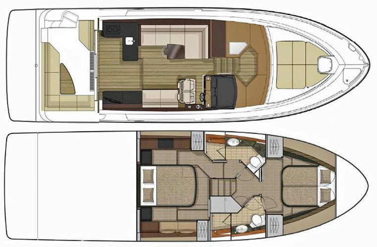 Layout Sea Ray Sport Yacht 460 Sundancer