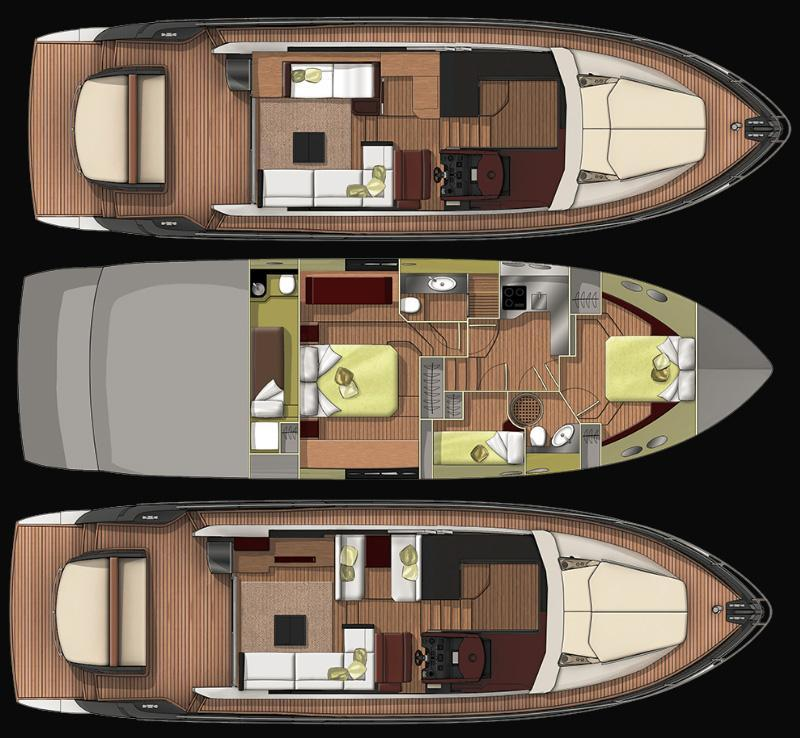 Layout Sessa Yacht C 54