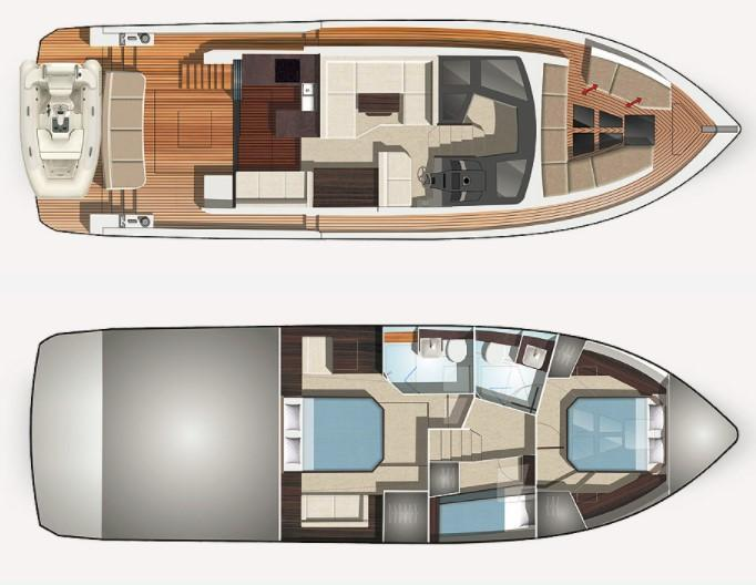 Layout Galeon 470 Skydeck