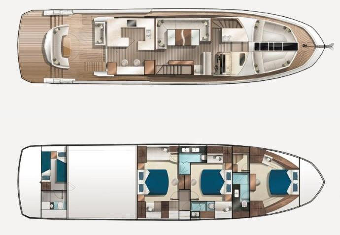 Layout Galeon 650 Skydeck