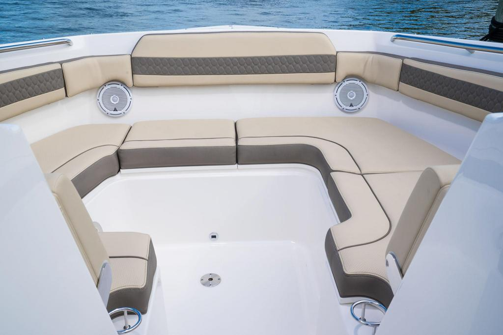 Exterior Pursuit Dual Console DC 365 New Boat